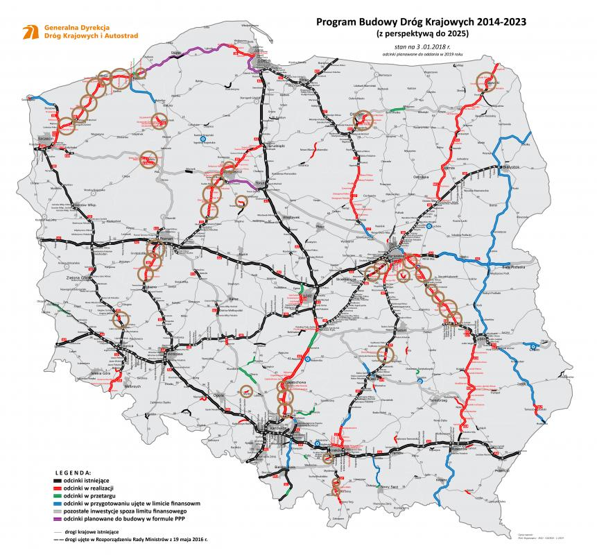 Oto plany budowy dróg w2019 roku