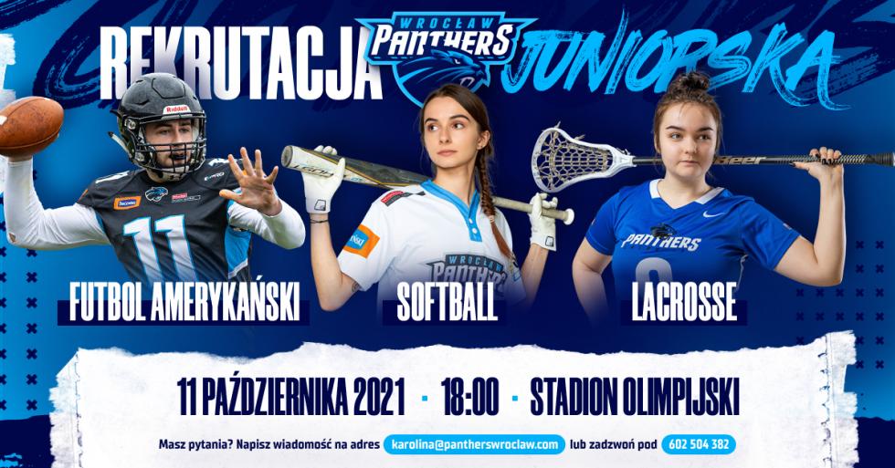 Rusza wielka rekrutacja dosekcji juniorskich Panthers Wrocław!